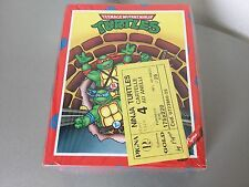 VINTAGE 80s# TEENAGE MUTANT NINJA TURTLES G1  SCHOOL COVER COPERTINE#SEALED