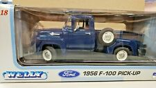 NEW-WELLY 1:18 FORD 1956 F-100 PICK UP TRUCK DARK BLUE 19831W         715