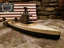 New listing Antique Handmade Wooden Model Steam Boat