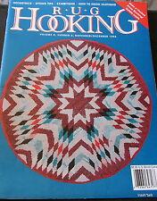 Rug Hooking Magazine Holiday 1998 Nov/Dec V10 #3 Geometrics Dyeing Tips Clothing
