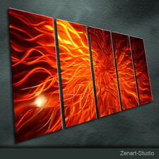 Shining Metal Aluminum Wall Art Original Large Abstract In-Outdoor Decor-Zenart