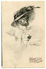 CHARME GLAMOUR FEMME CHAPEAU PLUME BEAUTIFUL LADY HAT READ A BOOK