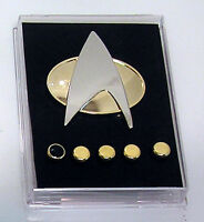 Star Trek:Next Generation Metal Communicator Pin & Rank Pip Set of 6 w Gift Box