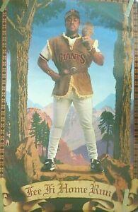 "Kevin Mitchell 1989 Original Vintage Nike Poster ""Fe Fi Homerun"" Sealed Mint"