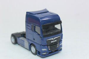 Herpa 312134 Man Tgx GX Tractor Blue 1:87 New Original Packaging