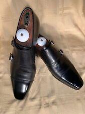 LNWB SANTONI Dress Black Leather Monk Strap SZ Eu 38, UK 5, Us 6, Ja 23. ITALY