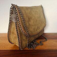 Original STELLA MCCARTNEY Falabella Tote Bag Cross Body Tasche taupe braun
