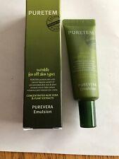 Puretem Purevera Aloe Vera Emulsion lotion/moisturizer. Travel/Sample Size New.