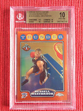 2008-09 TOPPS CHROME RUSSELL WESTBROOK ORANGE REFRACTOR RC /499 PRISTINE! BGS 10