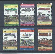 Tuvalu stamps. Funafuti 1984 Trains Locomotives set MNH (G030)