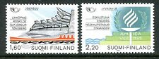 Finland Stamps Scott #738; 739 Nordic Cooperation 1986 MNH