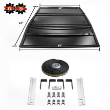Tri-Fold Tonneau Cover 6ft Bed 05-13 Toyota Tacoma Black Vinyl 4x4 2wd TRD Sport
