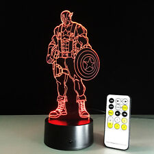 Marvel Avengers Captain America 3D LED Night Light With 7 Changing Colours