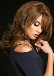 Hot Style Wig Fashion Charm Women's Medium Natural Brown Wavy Synthetic Full Wig