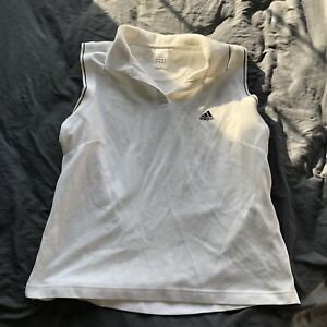 Adidas White Polo Womens Small Vest Size Large L