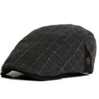 Men Retro Style Country Gatsby Newsboy Hat Baker Boy Ivy Golf Cabbie Flat Cap
