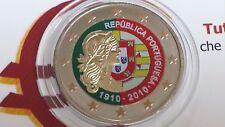 2 euro 2010 Portogallo color farbe farbig cor couleur Portugal 100 Repubblica