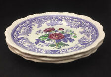 Spode Mayflower Dinner Plates (set of 3) - Beautiful Floral Center with Lavender