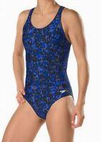 Speedo Women's Swimwear Blue Size 4 One Piece Muscle-Back Swimsuit $74 #423
