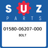 01580-06207-000 Suzuki Bolt 0158006207000, New Genuine OEM Part
