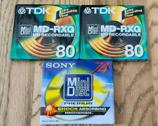 More details for 2 x tdk md-rxg 80 minute & 1 x sony mdw-74d 74 minute minidiscs new and sealed