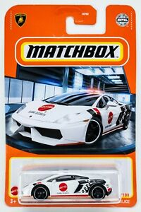 2021 Matchbox #69 Lamborghini Gallardo Police WHITE / MATTEL GLOBAL SEC. / MOC
