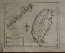 TAIWAN 1749 JACQUES NICOLAS BELLIN UNUSUAL ANTIQUE ORIGINAL COPPER ENGRAVED MAP