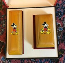 Boxed Mickey Mouse Brush Set in Wood by Walt Disney Enterprises