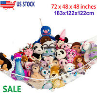 Toy Hammock Net Organizer Corner Stuffed Animals Kids Hanging Storage Bath