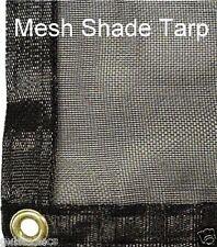 Shade Tarp-20x20 Fabric Mesh Net w/eyelets & taped edges-patio/greenhouse/garden