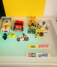 Playmobil lot for parts or spares decent condition race cars bikes figures bbs