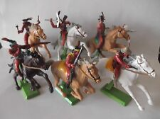 BRITAINS DEETAIL MOUNTED APACHES FULL SET OF 6... cat-no 7549