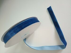 2 metres of Deep blue velvet ribbon 1.5cm wide ideal for christmas wrapping