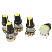 5pcs 50K OHM 3 Terminal Linear Taper Rotary Audio B Type Potentiometer Pot B50K