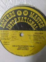 "Hippy Ranks-Girls Want Money 12"" Vinyl Single 1988 REGGAE DANCEHALL"