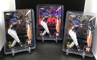 (3) 2020 Topps Chrome Update Yordan Alvarez Pink Refractor & Base RC Lot #U-53