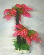 "9"" Aquarium Artificial Plant Palm Tree Red"
