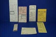 Pennsylvania Railroad Lot of 6 Tickets / Transfers Vouchers Checks PRR See Pics