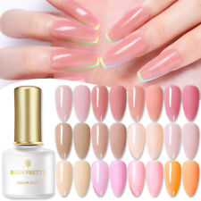 BORN PRETTY Semi-transparent Pink Jelly Gel Nail Polish Soak Off Nail Art 6ml