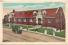 State Armory in Greensburg PA Postcard