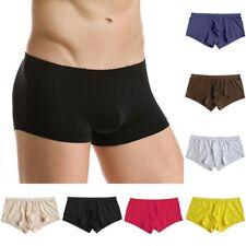 Soft Seamless Men Trunks Underpants Underwear Sexy Low-rise Bulge Boxer Briefs