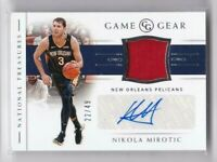 2018-19 Nikola Mirotic #/49 Auto Jersey Panini National Treasures Pelicans