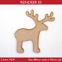 Wooden MDF Reindeer Christmas Craft Shape,Blanks,Tags, Xmas Decoration -3 styles