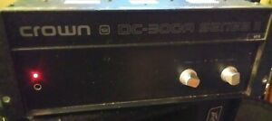 Crown DC-300A Series 2 Amplifier Amp Tested and Works