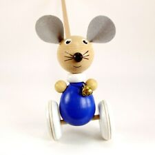 """Push-along toy  Mouse """"Anna"""" wooden toy"""