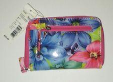 Mundi ladies wallet indexer zip around floral print NWT