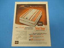 1953 Print Ad Serta Perfect Sleeper Smooth-Top Mattress, Improvements, PA014