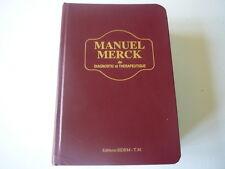 Manuel Merck de diagnostic et therapeutique 1ere édition française 1988