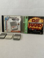 Memory Cards Light Gray Performance Playstation PSOne Console System&Die Hard Cd