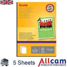 "Kodak Inkjet Magnetic Photo Paper Glossy 6x4"" to Print Fridge Magnets Inkjet 5pc"